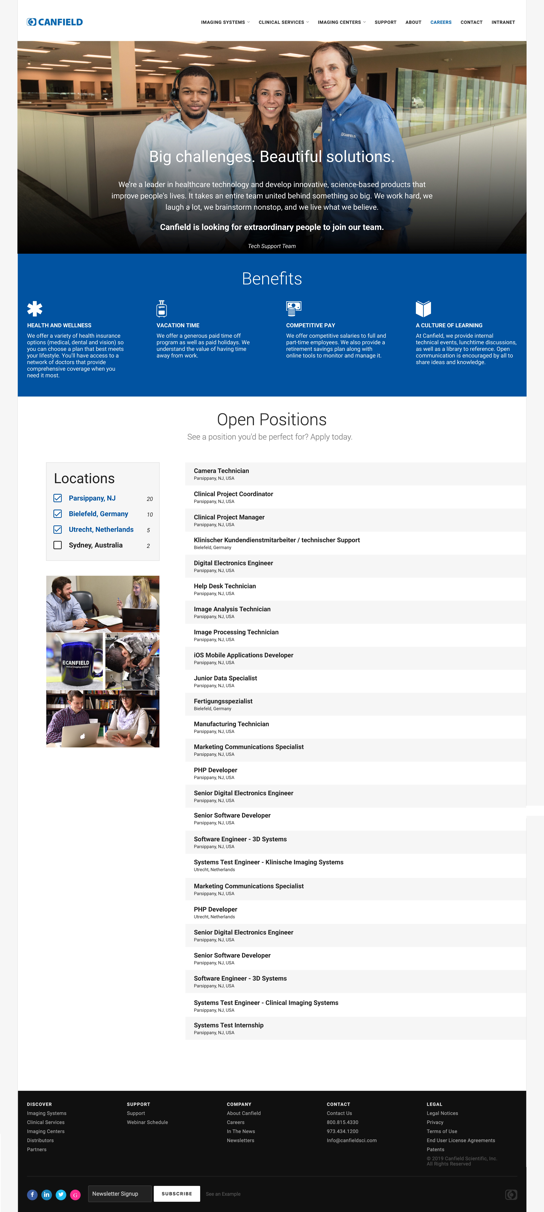 completed new careers page